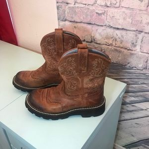 🌾 Ariat Fatbaby Cowgirl Leather Square Toe Boots